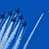 Blue Angels Chasing a Target