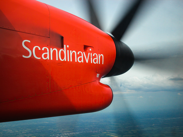 Scandinavian Airlines Logo on Dash 8
