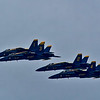 Navy Blue Angels over Jacksonville Beach