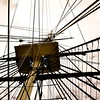 Crows nest of USS Constitution, the US Navy's oldest commissioned warship.