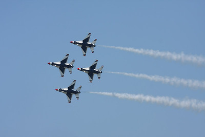 CLEVELAND, OHIO - SEPT. 3: U.S.A.F. Thunderbirds at the Cleveland National Airshow on Sept. 3, 2011 in Cleveland, Ohio.