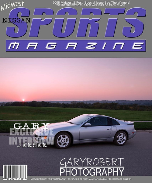 Custom Magazine Cover, Nissan 300 ZX