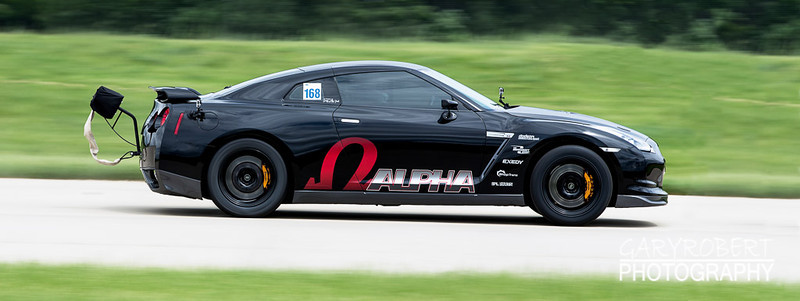 AMS's Alpha GTR running the 1/2 mile run at the Chicago WannaGOFAST.com event at the Bult Field Airport in Monee, IL 2013