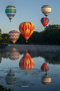 Ten Hot Air Balloons