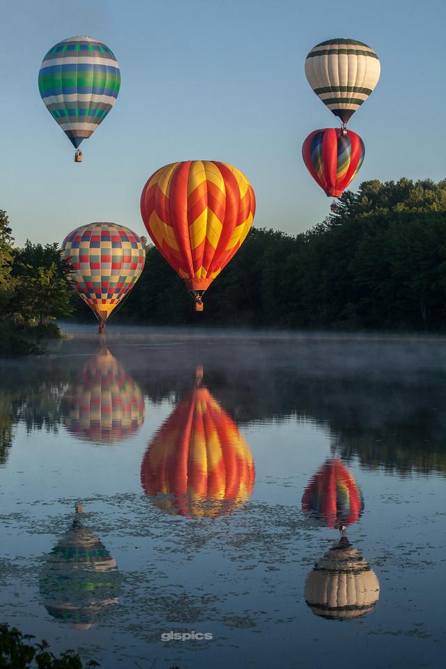 Ten Hot Air Balloons
