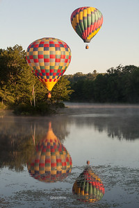 Hot Air Balloons Double Reflected