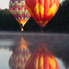 Bright Hot Air Balloons Reflected