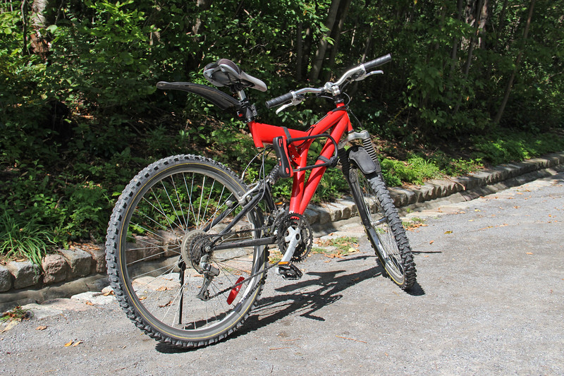 Mountain Bicycle on a Dirt Road
