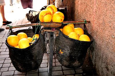 Yellow Melon Bike. Morocco.