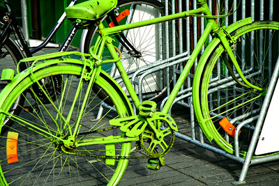 Ride me Green. Amsterdam, Holland.