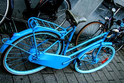 Blue Night Rider.  Brugge, Belgium.