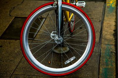 Red Silver Wheel.  Venice, CA.