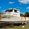 """Sandra Dee"" Boat on Blocks at Hudson"