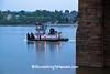 Tugboat and John A. Roebling Suspension Bridge, Cincinnati, Ohio