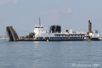 Dredging the channel offshore St. Augustine Inlet. Get notifications via:
