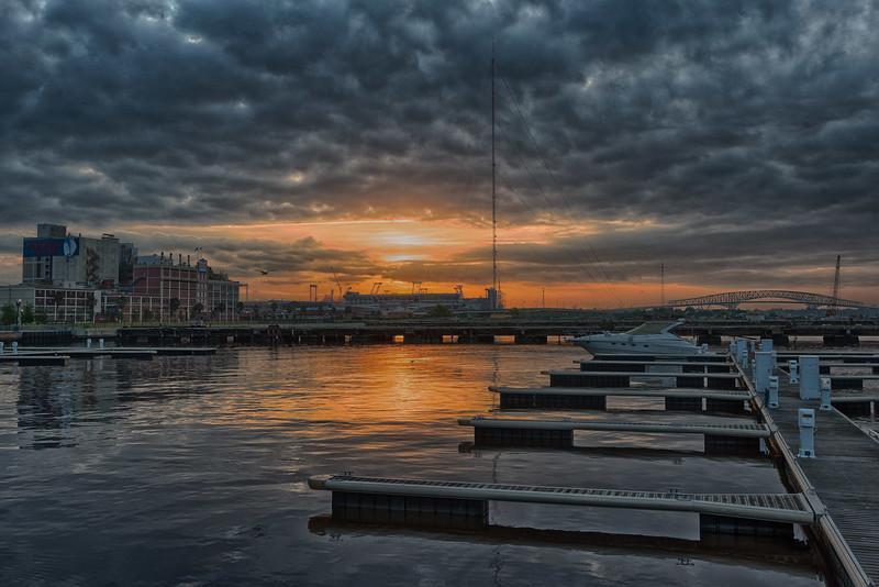 Sunrise over the St. Johns in Jacksonville