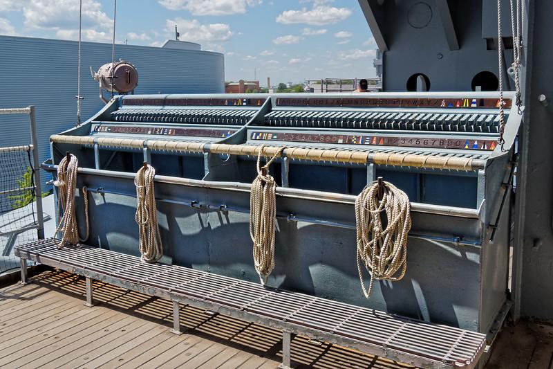 USS Wisconsin (BB-64) Starboard Flag Bag