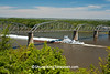 Tugboat and Barges under Champ Clark Bridge, Pike County, Missouri