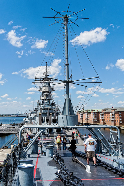USS Wisconsin (BB-64) As Seen from Forecastle