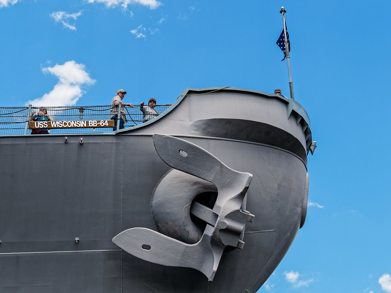 Bow of USS Wisconsin BB-64