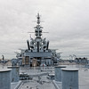 USS Alabama (BB-60) as seen from Fantail