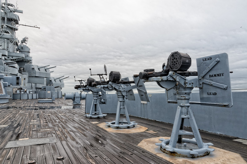 USS Alabama (BB-60)'s 20mm guns