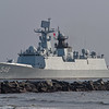 Chinese Navy Missile Frigate 548 Yiyang in St. Johns River