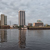 Tug and Barge steam Up The St. Johns River