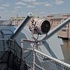 """USS Wisconsin (BB-64) Signal Light and 5"""" Gun Mount"""