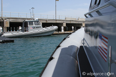 US Navy RIB Patrol boats at the Navy port on an Air Force Base.  Interesting. Get notifications via: