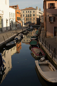 Italy, Venice, Boats and Canal SNM