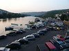 Boat Docks and Parking Lot on the MOsel River in Bernkastel-Kuse, Germany