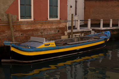 Italy, Venice, Boat in Canal SNM