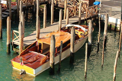 Venice, Italy, Wooden Tender / Taxi