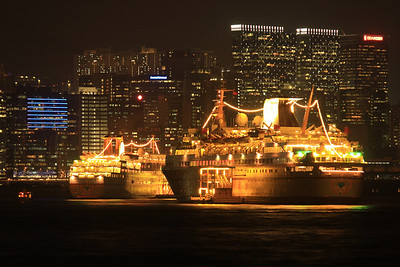 Cruise Ships Docked in Kowloon Bay, Hong Kong