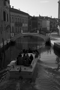 Italy, Venice, Canal and Boat and Bridge SNM