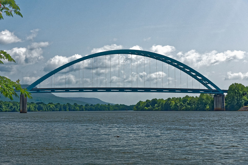 Shelby Reinhart Bridge over The Tennessee River