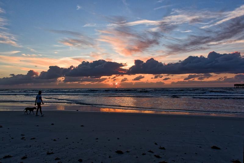Jacksonville Beach Pier at Sunrise.