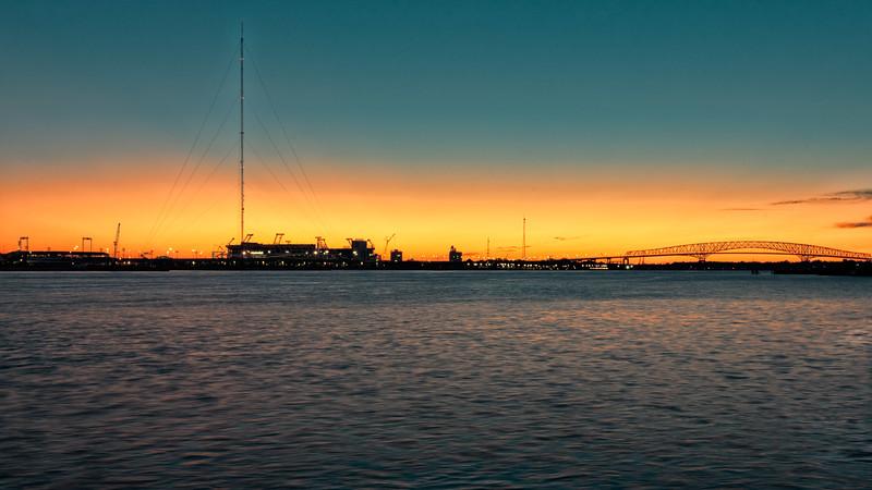 Jacksonville Hart Bridge at Sunrise