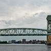 Cape Fear Memorial Bridge Frames Wilmington Skyline