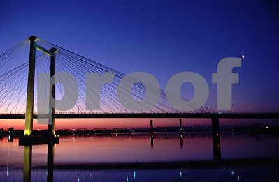 The bridge over the Columbia River in Pasco, Washington.