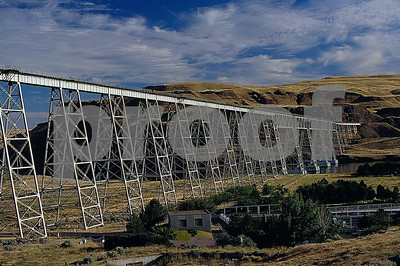 A railroad bridge over the Snake River in eaastern Washington.
