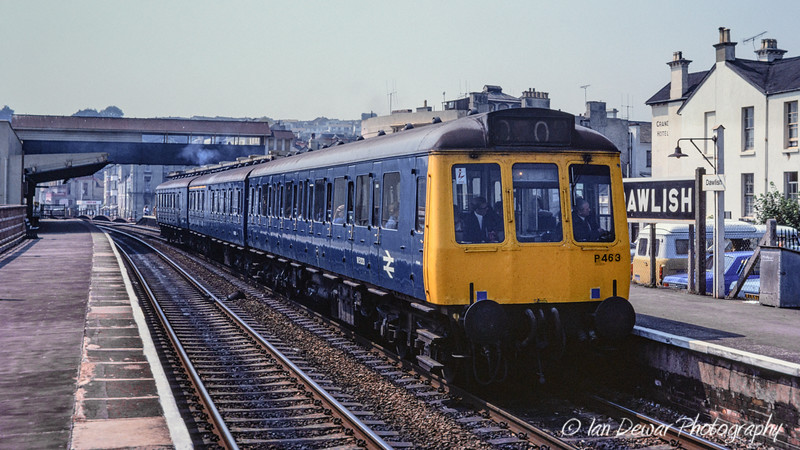 Class 188 unit P463 at Dawlish in 1977