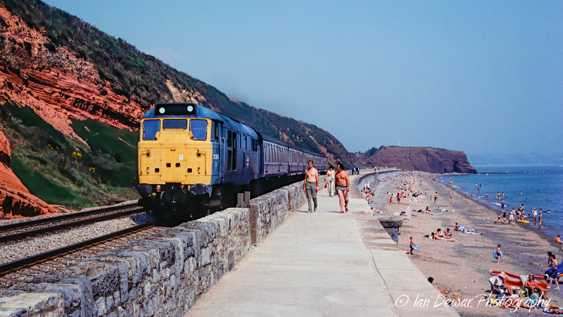 31304 at the Dawlish Seawall 1977