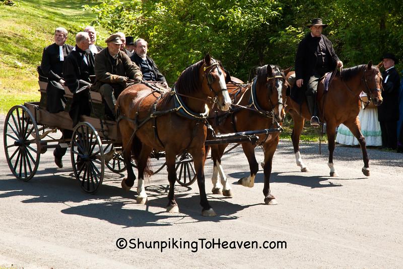 Horse-Drawn Buckboard Wagon, Springfield, Illinois