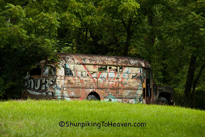 Graffiti Bus, Green County, Wisconsin