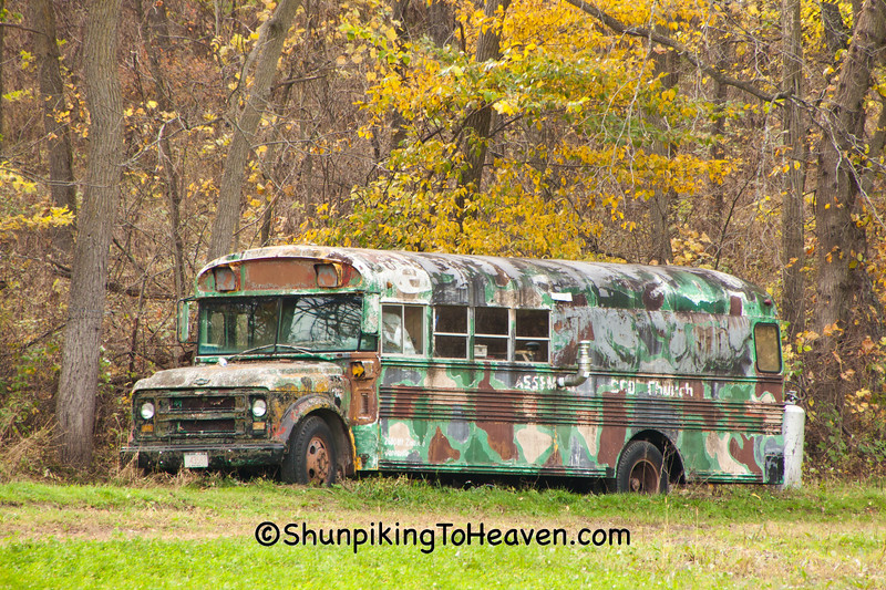 Camouflage Bus, Monroe County, Wisconsin