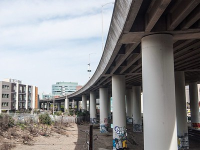 The I-280 freeway seen from Pennsylvania and Mariposa street in San Francisco, Calif. Friday, February 26, 2016. (Jessica Christian/S.F. Examiner)