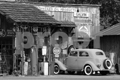 Historic gas station and museum in Galvin, WA.