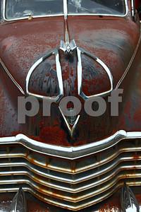 A 1948 Cadillac hearse.